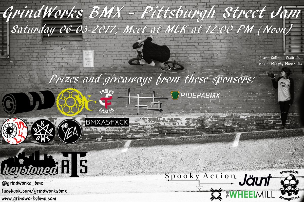 GrindWorks Pittsburgh Street Jam 2017 – Update 1